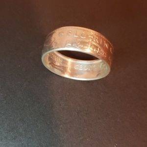 Pure silver ring sz10